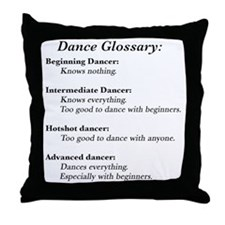 Guide to the Types of Dancers Throw Pillow