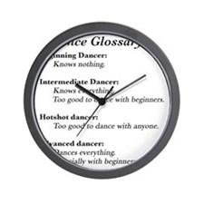 Guide to the Types of Dancers Wall Clock