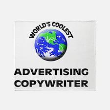 World's Coolest Advertising Copywrit Throw Blanket