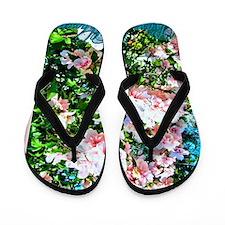 Rose of Sharon Hibiscus Flip Flops