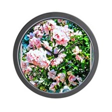 Rose of Sharon Hibiscus Wall Clock