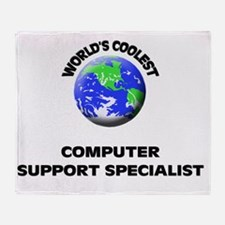 World's Coolest Computer Support Spe Throw Blanket