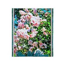 Rose of Sharon Hibiscus Throw Blanket