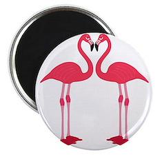 flamingo love birds Magnet