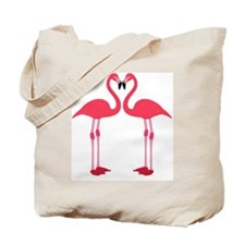 flamingo love birds Tote Bag