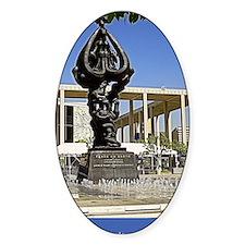 ptp peace fountain Decal