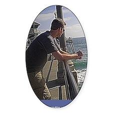 ptp man on huntington pier Decal