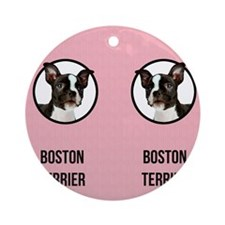 Boston Terrier Mom Round Ornament