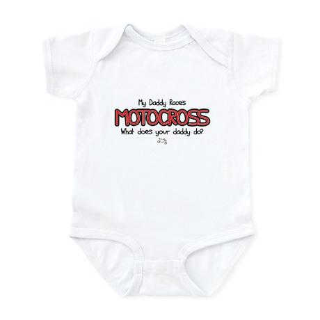 My Daddy Races Motocross Baby Bodysuit Baby Light Bodysuit ...