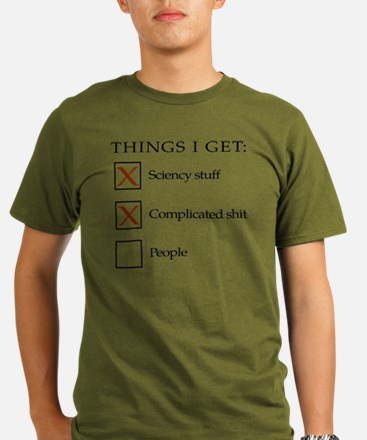 Things I get - people Organic Men's T-Shirt (dark)