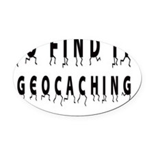 Geocaching: GO FIND IT! Oval Car Magnet
