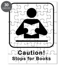 Caution Stops for Books Puzzle