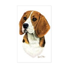 Beagle Head 1 Decal