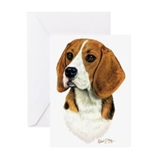 Beagle Head 1 Greeting Card