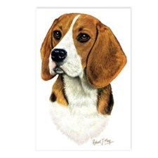 Beagle Head 1 Postcards (Package of 8)