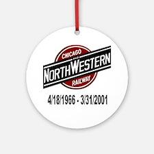 logoCNWRailway Round Ornament