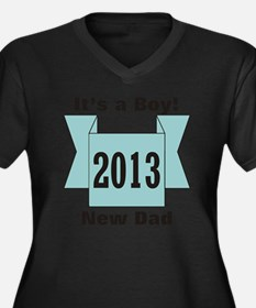 2013 New Dad Women's Plus Size Dark V-Neck T-Shirt