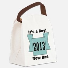 2013 New Dad of Boy Canvas Lunch Bag