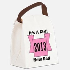 2013 New Dad of Girl Canvas Lunch Bag