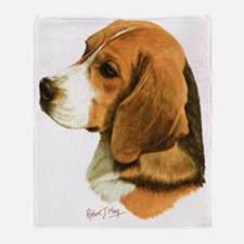 Beagle Head 2 Throw Blanket