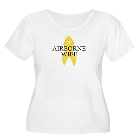 Airborne Wife Ribbon Women's Plus Size Scoop Neck