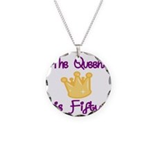 THE QUEEN IS FIFTY 4 Necklace Circle Charm