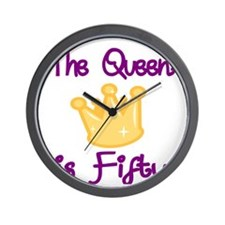 THE QUEEN IS FIFTY 4 Wall Clock