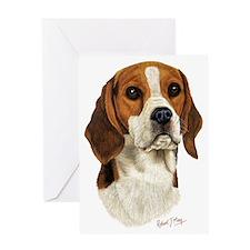 Beagle Head 3 Greeting Card