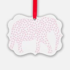 Light Pink Polka Dot Elephant Ornament