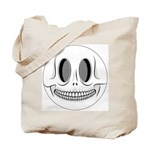 Skull Smiley Face Tote Bag