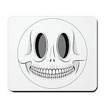 Skull Smiley Face Mousepad