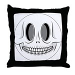 Skull Smiley Face Throw Pillow
