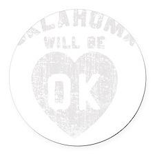 OK Oklahoma Round Car Magnet