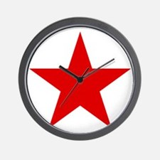 Red Star Wall Clock
