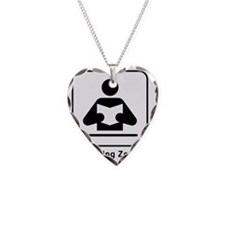 Reading Zone Necklace Heart Charm