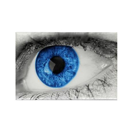 blue-eye art Rectangle Magnet