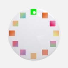 Color Wheel Round Ornament