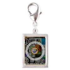 Stop Global Warming Silver Portrait Charm