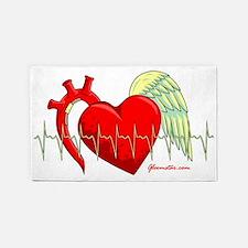 Heart Surgery Survivor 3'x5' Area Rug