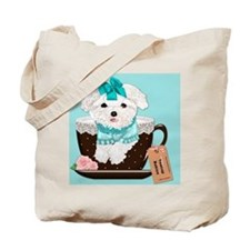 Teacup Baby Maltese Tote Bag