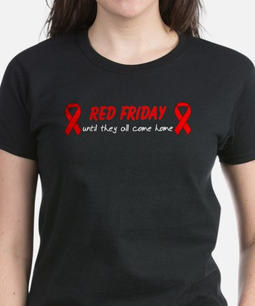 Red Friday until they come home Women's Dark T-Sh