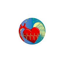 Heart Surgery Survivor Full Mini Button