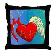 Heart Surgery Survivor Full Throw Pillow