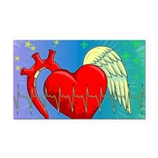 Heart Surgery Survivor Full Rectangle Car Magnet