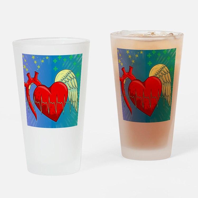 Heart Surgery Survivor Full Drinking Glass