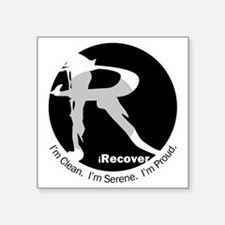 "iRecover - Clean. Serene. P Square Sticker 3"" x 3"""