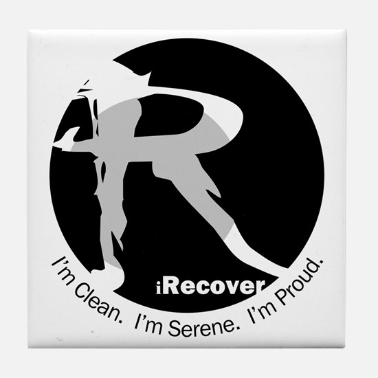 iRecover - Clean. Serene. Proud Tile Coaster
