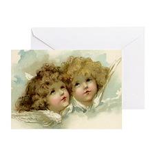 Vintage Victorian Christmas Angels i Greeting Card