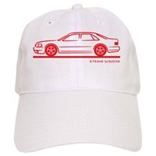 Audi A8 RED Baseball Cap