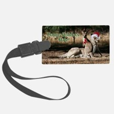 Aussie Happy Holidays Mate Kanga Luggage Tag